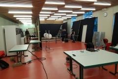 Jour 1 : montage du décors et du studio